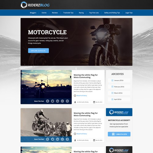 Website logo for a motorcycle blog