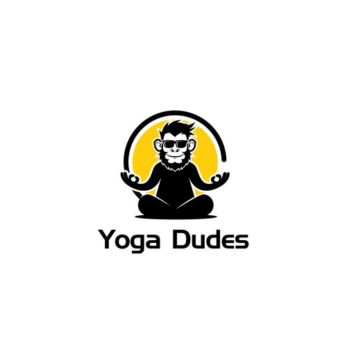 hipster logo for yoga dudes