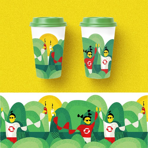 Ilustration for re-usable cup