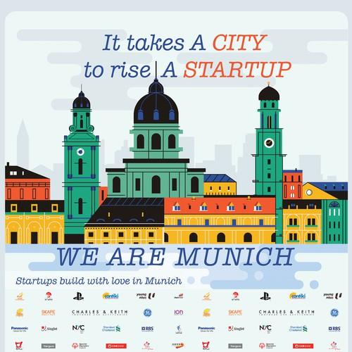 Munich City Illustration