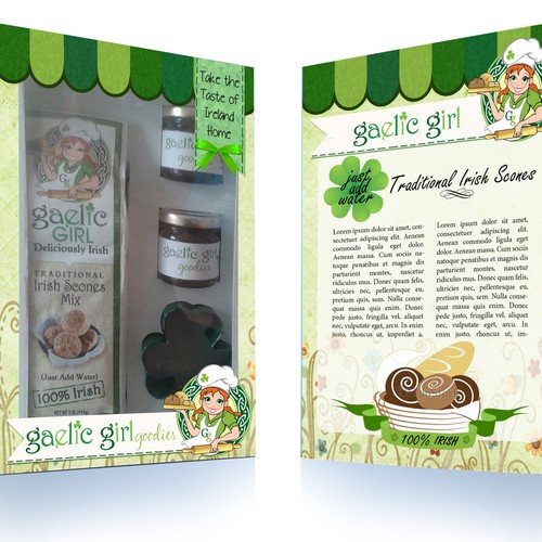Irish Bread Mix Gift Set Design for Gaelic Girl Goodies