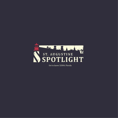 St. Augustine Spotlight  - cool lighthouse logo!