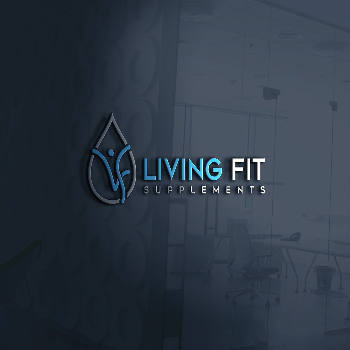 Design a logo emphasizing a Fit lifestyle.  Like LivingFit as one word & the use of 2 colors. Either red & blue or red &