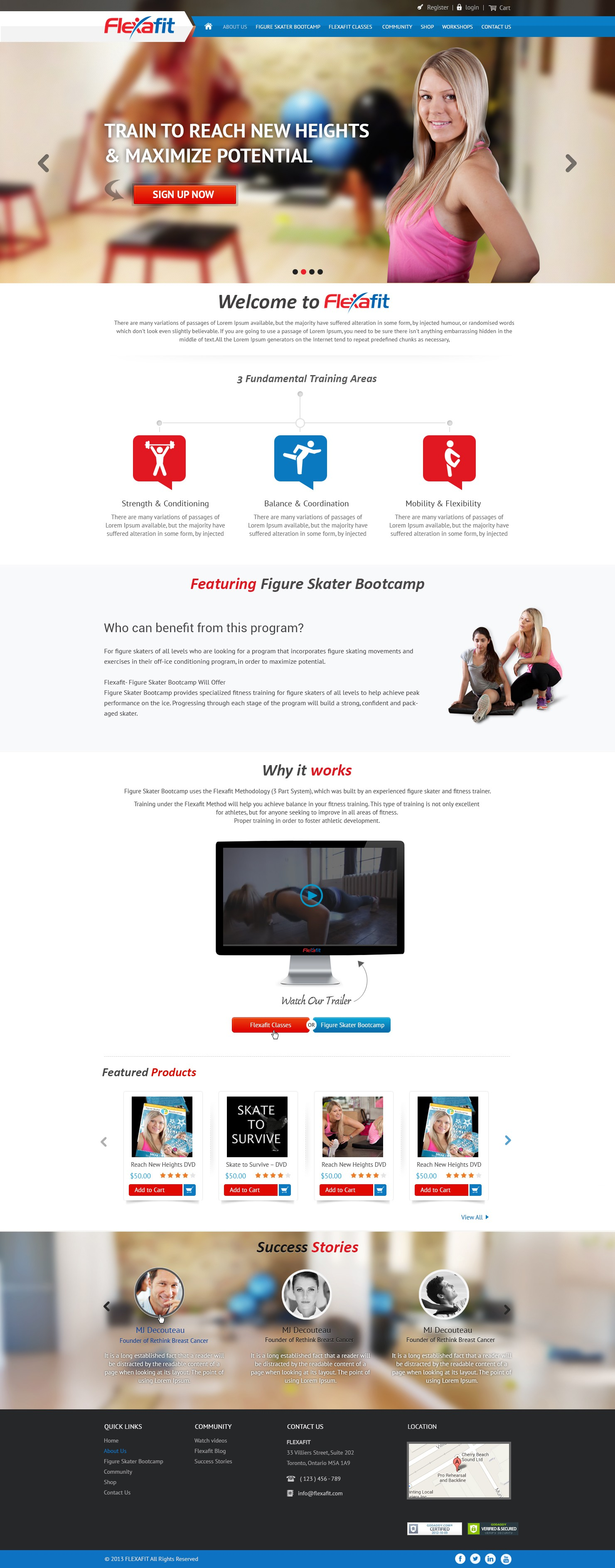New website design wanted for Flexafit