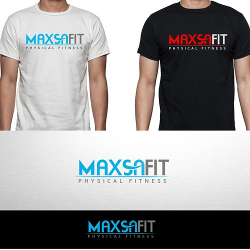 Create a simple, fitness logo for Maxsa Fit