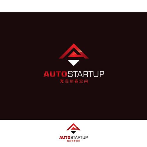 letterform mark concept for autostartup logo