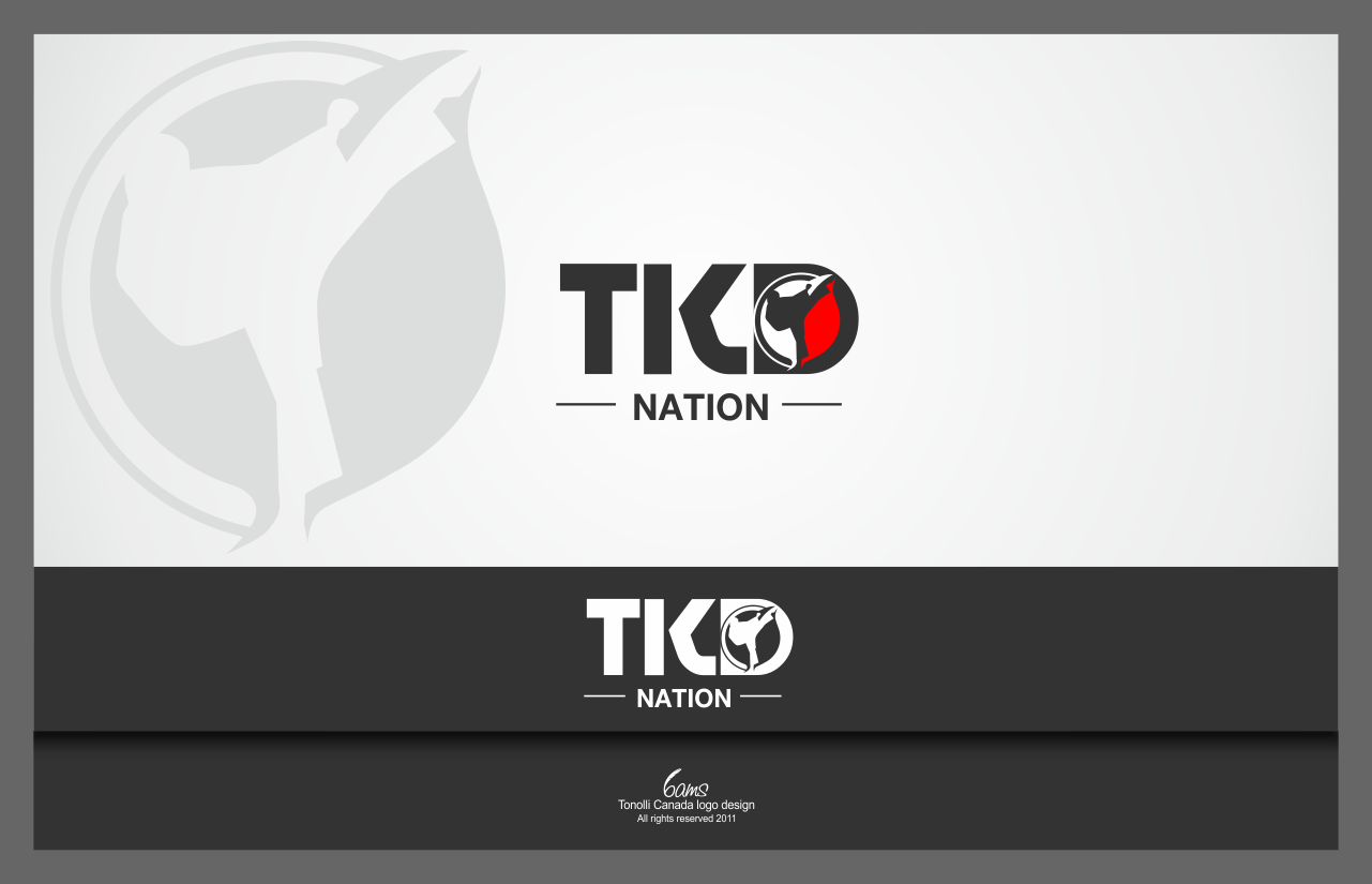logo for TKD Nation (Taekwondo Nation)