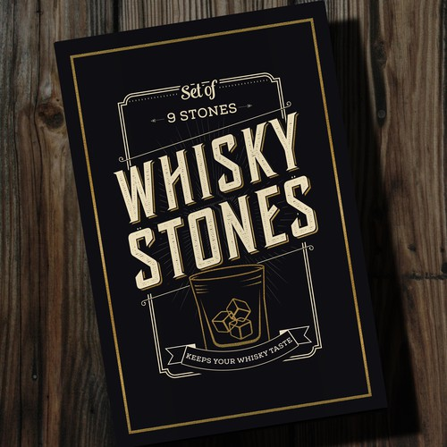Box design for Whiskey stones