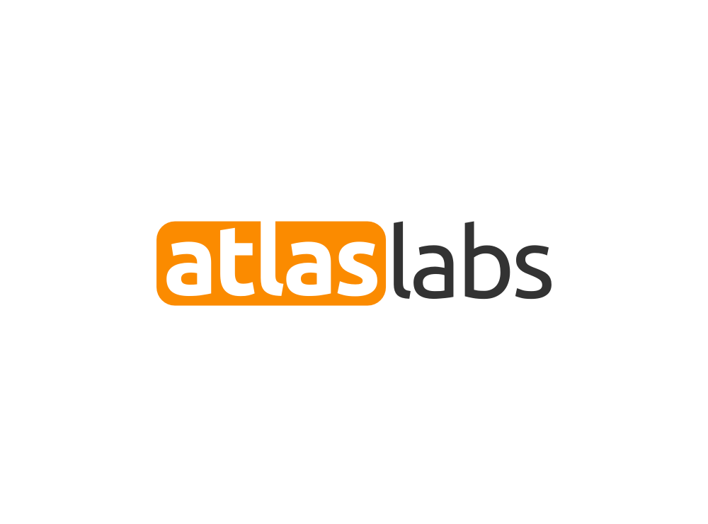 logo and business card for Atlas Labs