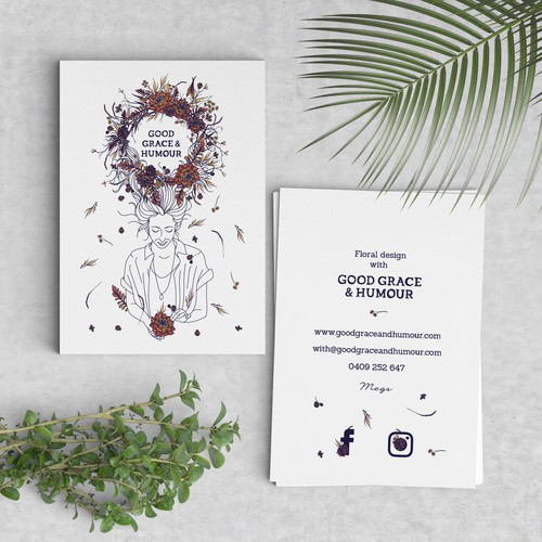 Business Card design for Good Grace & Humor