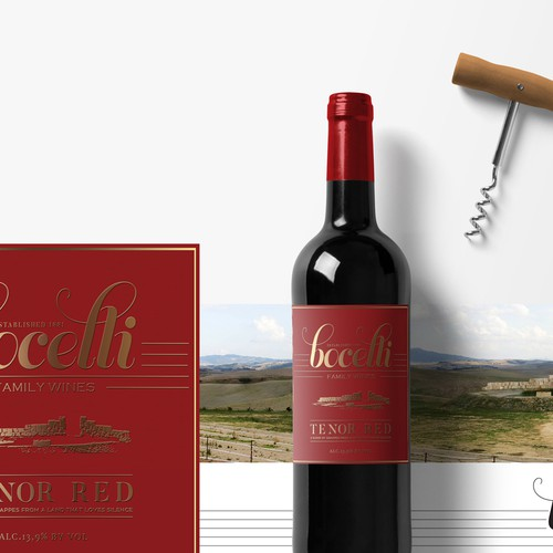 Bocelli Wine-Tenor Red