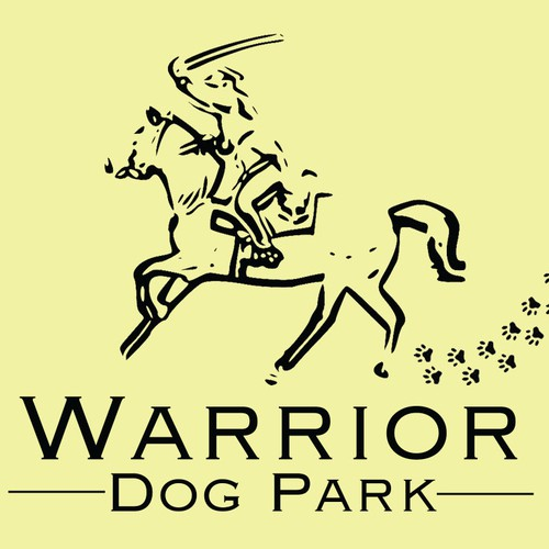 """Warrior Dog Park"" Sign Design"