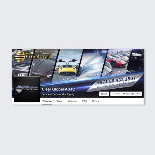 Car dealership Facebook Cover Design