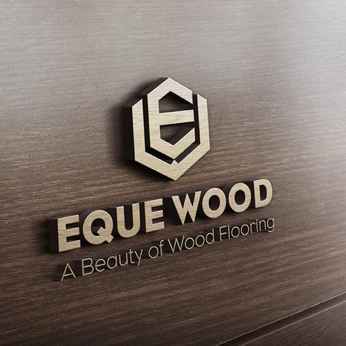 Bold masculine logo for Eque Wood
