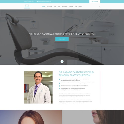 Re design a modern web page for a Dr.
