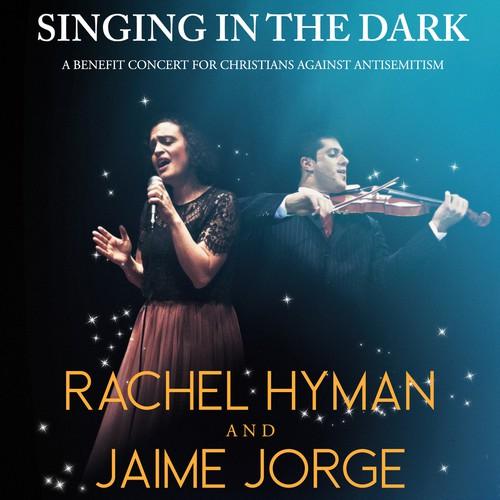 Singing in the dark concert poster