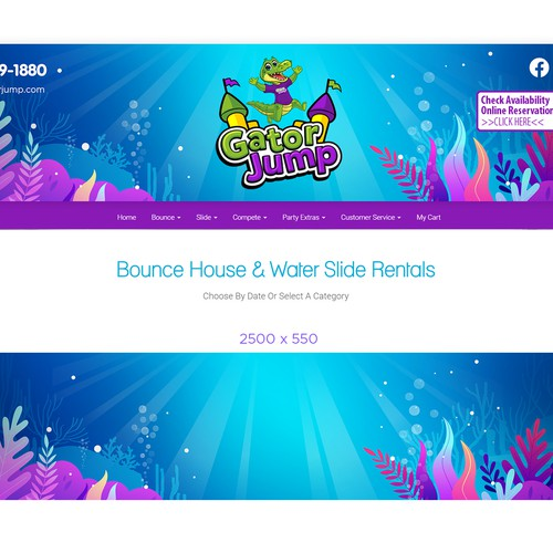 Colorful design for Website header