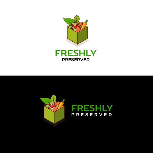 Minimalist box for vegetables and fruits