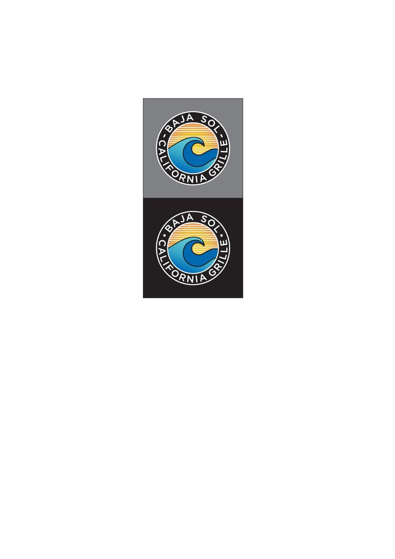 Design a sunny logo for Baja California Grille