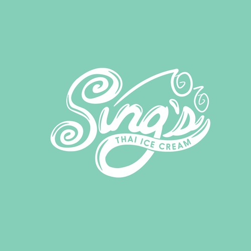 Logo for Thai styled ice cream company