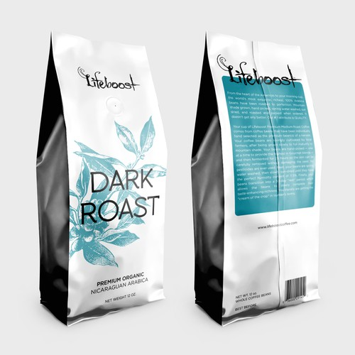 Packaging concept for a premium, health-focused coffee brand