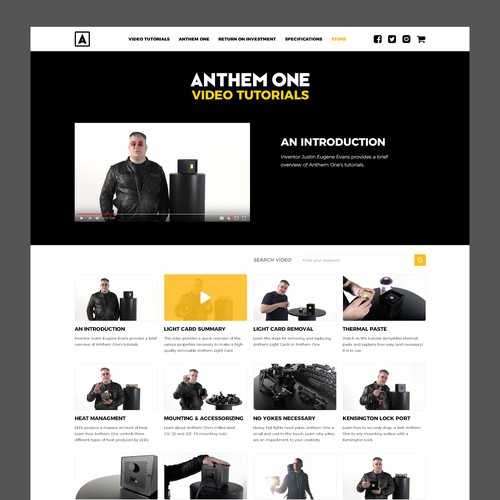Anthem One Video Tutorials