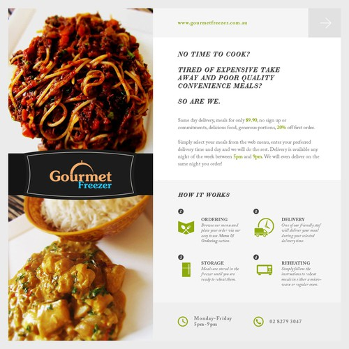 Gourmet Freezer - Email
