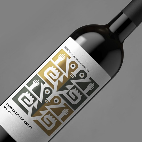 Malbec Wine Label for an Argentinian Winery