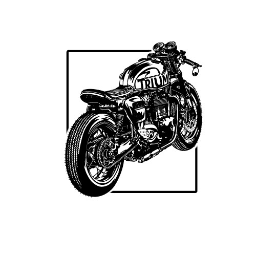 Custom Detailed Motorcycle Racer