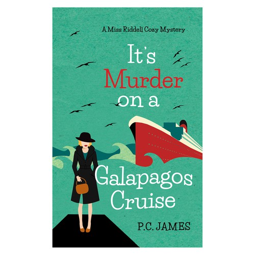 "Book cover for ""It's Murder on a Galapagos Cruise"""