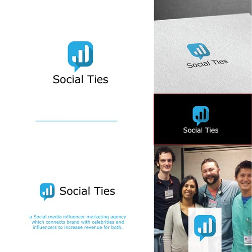 clever logo concept for Social Ties