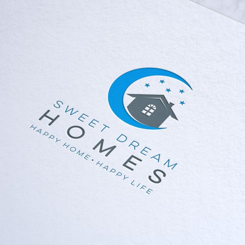"Dreamy logo for a new real estate company ""Sweet Dream Homes"""