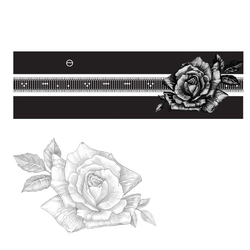 rose for an arm band tattoo