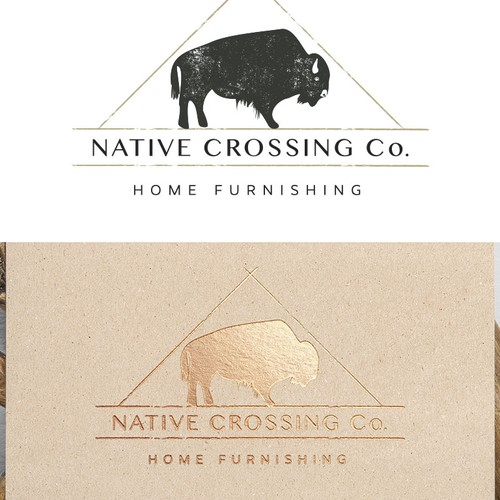 Rustic yet clean design for Home Furnishings store