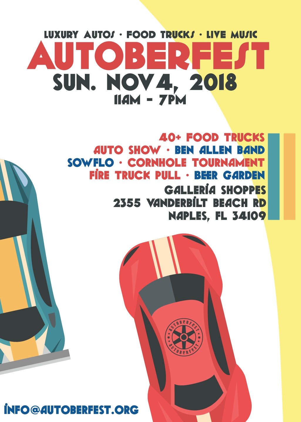 Create an amazing Poster/Flyer for the BEST FOOD TRUCK MUSIC AND AUTO FESTIVAL!!