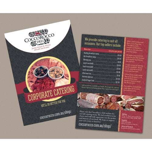 CORPORATE Catering A6 Double Sided Brochure