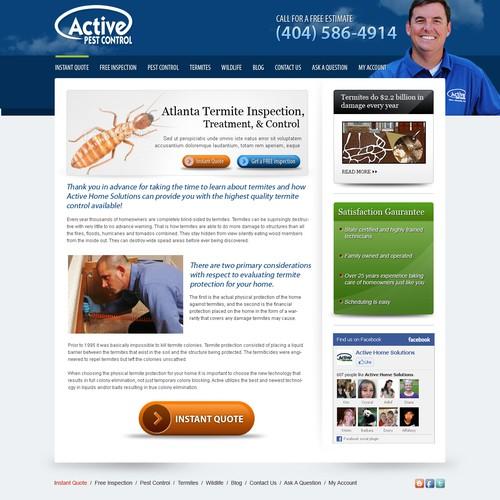 Pest control web site design