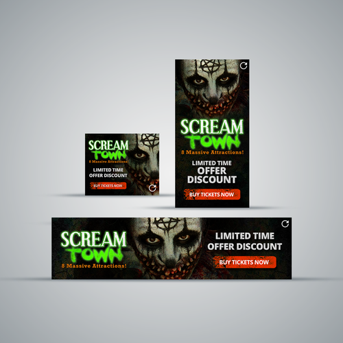 Banner Ad for Haunted House Attraction Images