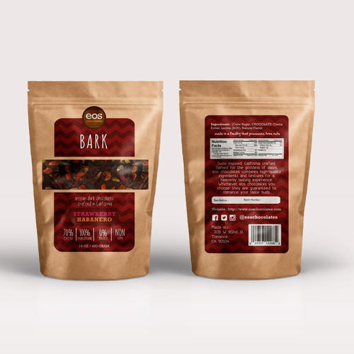 Chocolate Bag Label Design