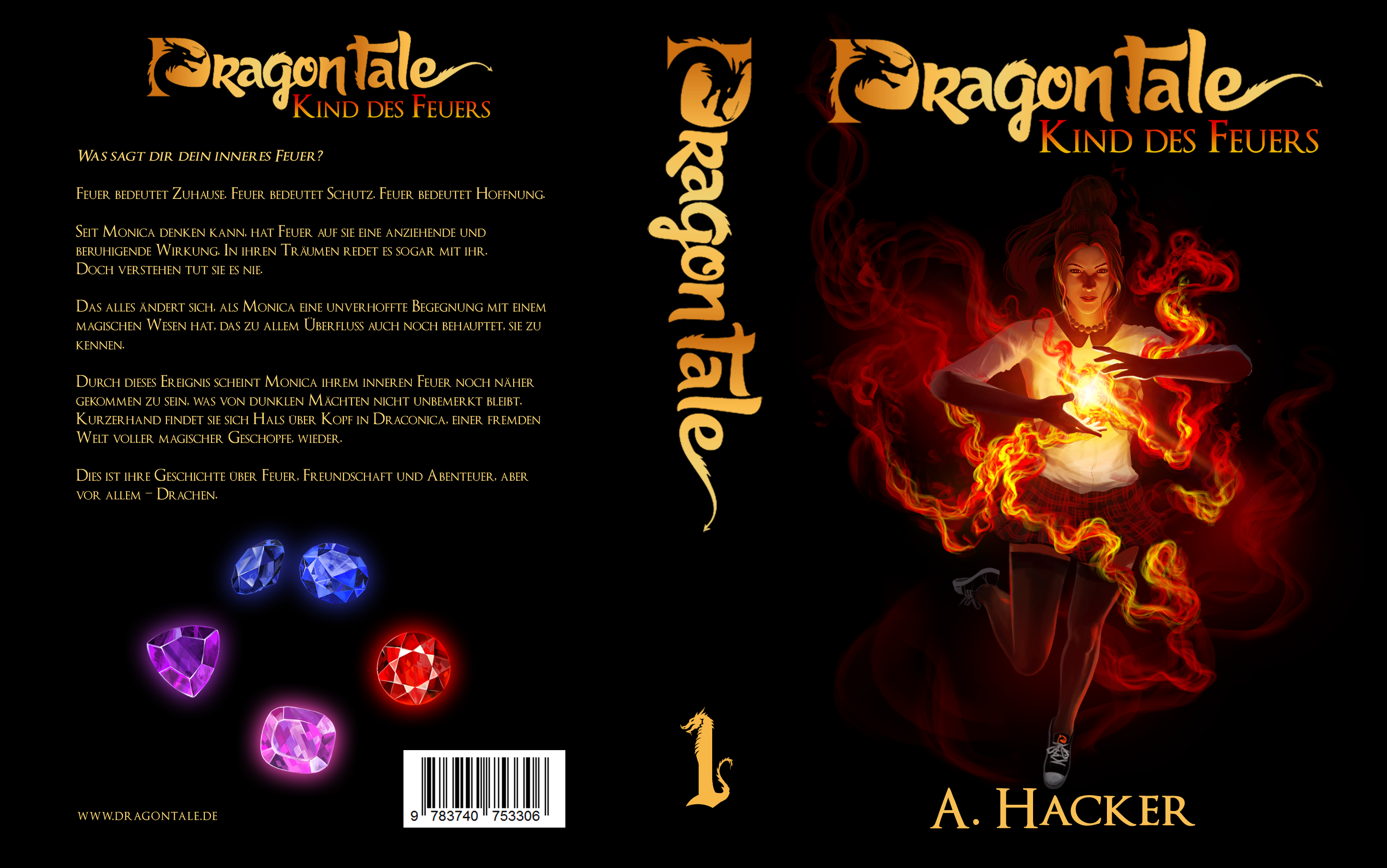 """Book cover for the first book of the """"Dragon Tale"""" series"""