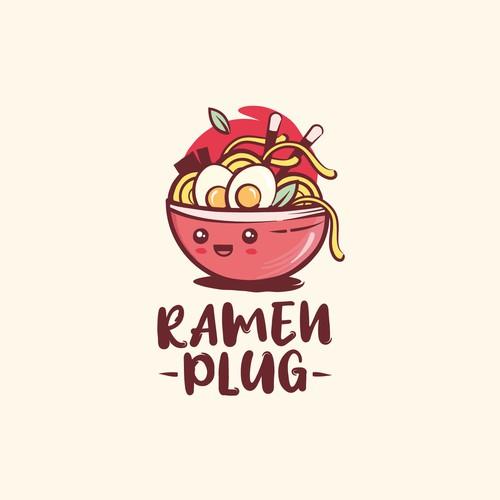 Kawaii/street style ramen logo