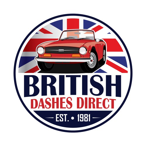 A classic logo for a Classis British Roadsters dashboards manufactor.