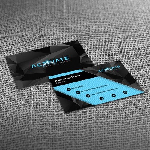 Activate business card design