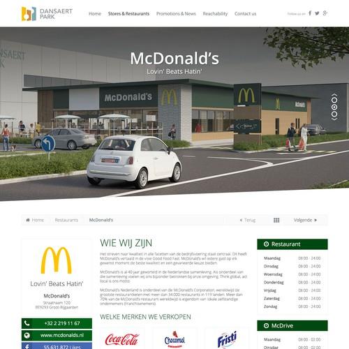 Retail park 'Dansaertpark' (Brussels-Belgium): design the look & feel of the website!