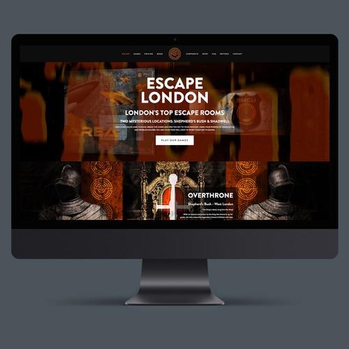 Website design for Escape Games. The world's biggest Escape Games Franchise
