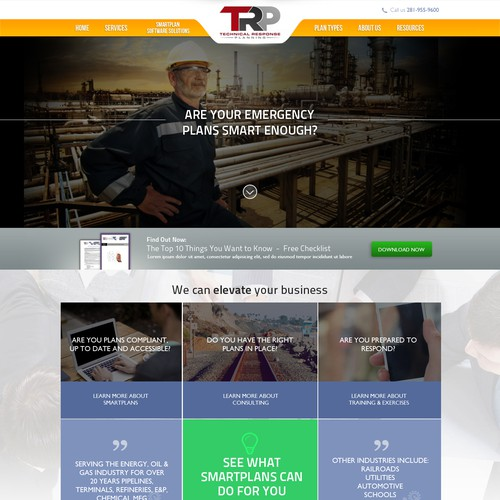 Create an enhanced website design and layout for TRP in the SaaS industry