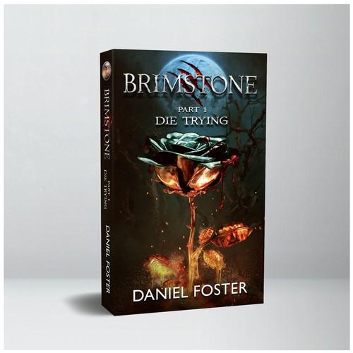 Grim fantasy book cover -- Brimstone