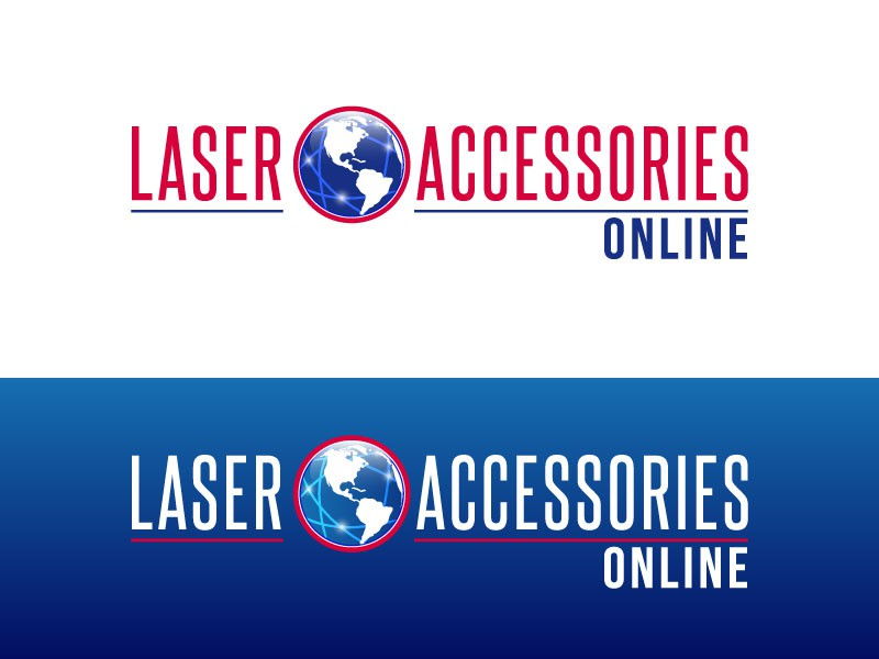Create a bright, modern logo and website for Laser Accessories Online!
