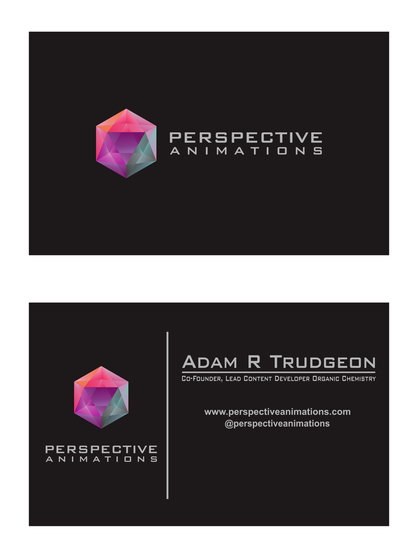 Business Card for Perspective Animations