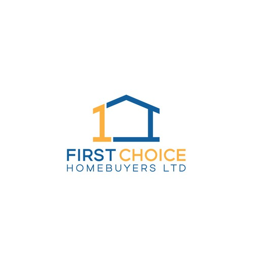 Winner design for first choice homebuyers logo contest.